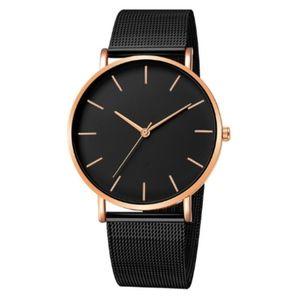 The Minimalist Watch | Matte Black x Rose Gold